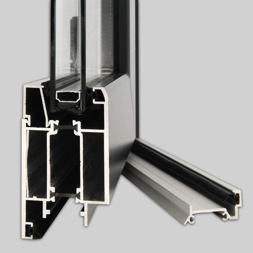 caract ristiques portes lourdes et de service gamme opale alu devic menuiseries. Black Bedroom Furniture Sets. Home Design Ideas
